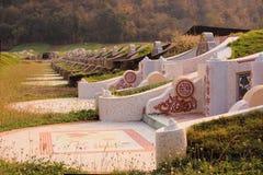 Chinese cemetery in Kanchanaburi, Thailand Stock Image