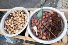 Chinese century eggs Stock Photography