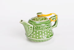 Chinese ceramic green teapot Stock Images