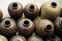Chinese Ceramic Jars Royalty Free Stock Photography