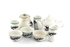 Chinese ceramic tea set Royalty Free Stock Photo