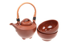 Chinese ceramic tea set Stock Photos