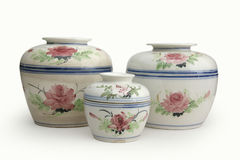 Chinese Ceramics. Chinese Bowl-pots, where the tops are bowls and the bottoms are pots Stock Photography