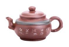 Chinese ceramische met de hand gemaakte theepot Stock Afbeelding