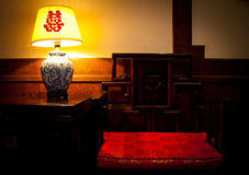 Chinese chair Stock Images