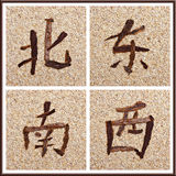 Chinese character for all directions Royalty Free Stock Photography
