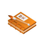 Chinese Character Books Pencil Royalty Free Stock Photo