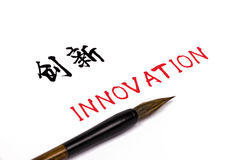 Chinese character: innovation Royalty Free Stock Image