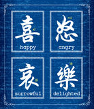Chinese character symbol about emotions Royalty Free Stock Image