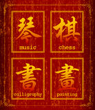 Chinese character symbol about Recreation. Wealth Chinese Calligraphy Symbol Grunge Background Set.Chinese character symbol about Recreation.Increased by Adobe Stock Photo