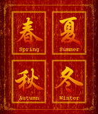 Chinese character symbol about Season Stock Photos