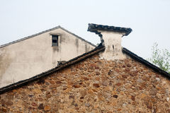 Chinese characteristics houses. Old house wall in China's township Royalty Free Stock Photography