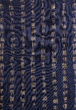 Chinese characters in ancient seal style on textil royalty free stock photography