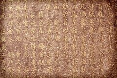 Chinese characters background Stock Images
