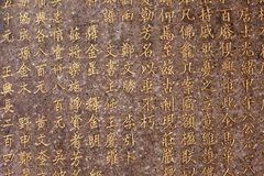 Chinese characters background Royalty Free Stock Image
