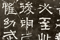 Chinese characters carved Royalty Free Stock Images