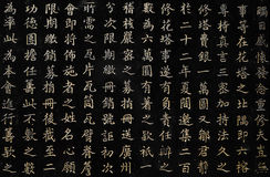Chinese Characters Close-Up stock photography