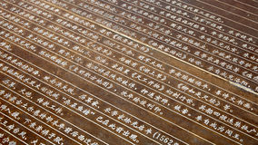 Chinese characters on the metal Royalty Free Stock Photo