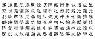 Chinese characters v5 Royalty Free Stock Photography