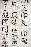 Chinese characters on the wall. Chinese traditional characters on the wall of a public park in Beijing, China royalty free stock photography