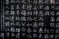Chinese characters on the wall. Chinese traditional characters on the wall in Chengdu, China Royalty Free Stock Image