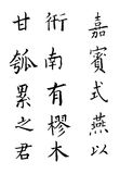 Chinese Characters. On white background Royalty Free Stock Photos