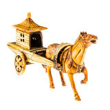 Chinese chariot. An ancient chinese war chariot isolated over a white background Royalty Free Stock Photography