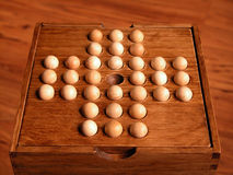 Chinese checker. Close-ups of chinese checker game for one person royalty free stock photos