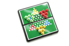 Chinese Checkers. Drop out on white background Stock Images