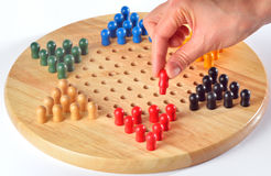 Chinese checkers Stock Image