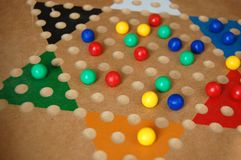 Chinese Checkers Board Game Fun stock photo