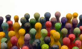 Chinese checkers. Colorful mixed chinese checkers figures in formation Royalty Free Stock Photos