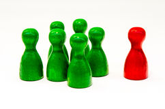 Chinese checkers figures Stock Image
