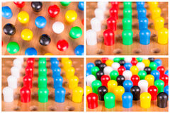 Chinese checkers wooden board set Stock Photo