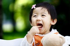 Chinese cheerful girl Stock Images
