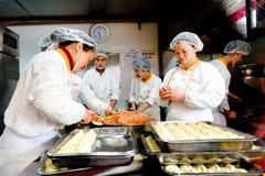 Chinese Chefs Prepare Dim Sum Dumpling Stock Photos