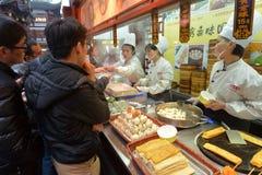 Chinese chefs prepare Dim sum dumpling Stock Images