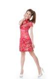Chinese cheongsam girl Stock Image