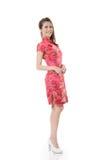 Chinese cheongsam girl Stock Images