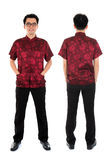 Chinese cheongsam male front and back view Royalty Free Stock Photo