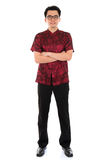 Chinese cheongsam man Royalty Free Stock Images