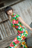 Chinese cheongsam model Royalty Free Stock Photography