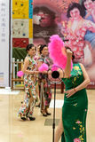 Chinese cheongsam show. stock photography