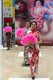 Chinese cheongsam show. Royalty Free Stock Images