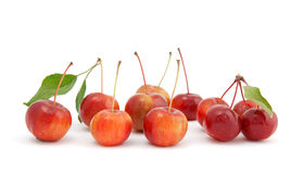 Chinese cherry apples on white background Royalty Free Stock Images