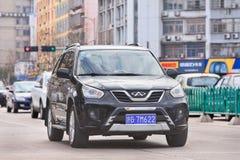 Chinese Chery Tiggo SUV op de weg in Yiwu, China Stock Afbeelding