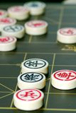 Chinese chess. Game board and pieces with shallow dof Stock Image