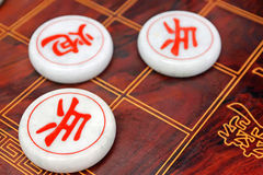 Chinese chess. Closeup of chinese chess, creative picture royalty free stock photography