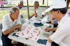Chinese chess players Royalty Free Stock Photo