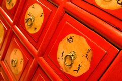 Chinese Chest Closeup Stock Images